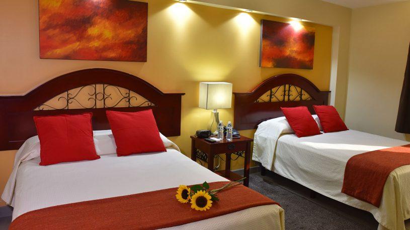 habitacion dos camas ejecutiva hotel tijuana
