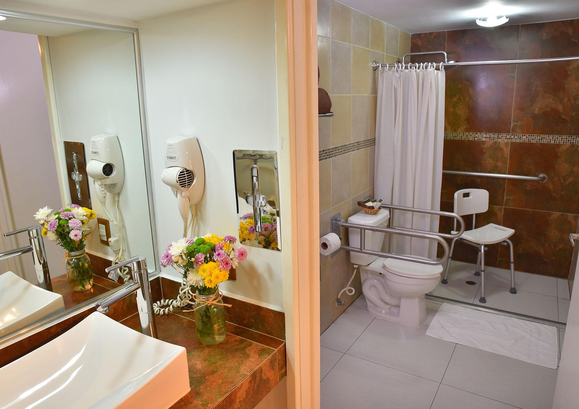 habitacion handicap en hotel de zona rio