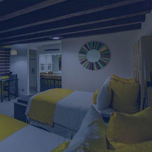 habitacion dos camas hotel hacienda del rio