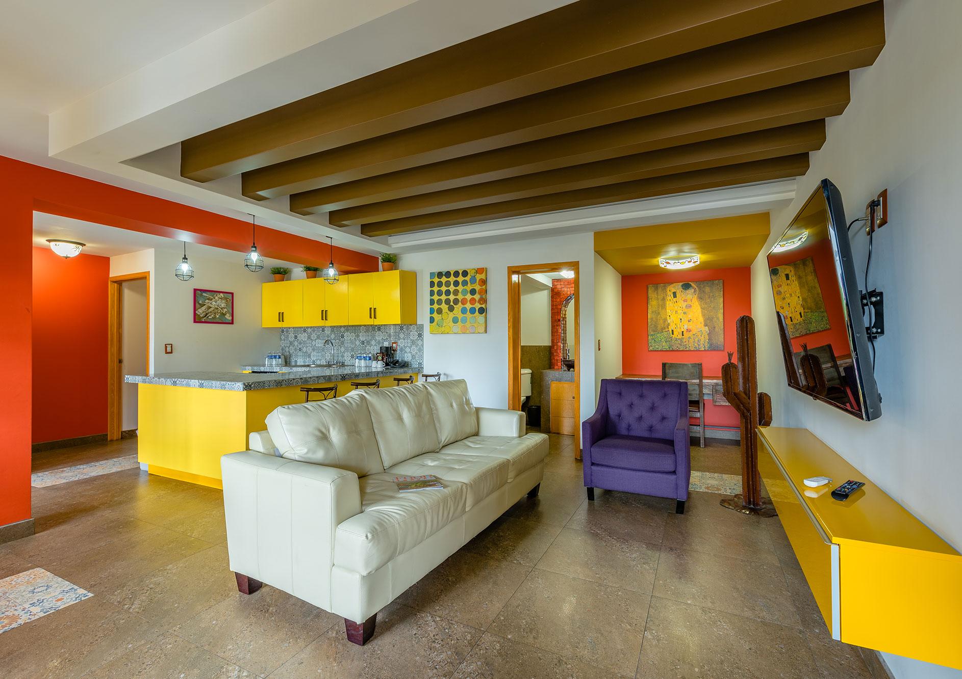 sala habitacion hotel hacienda del rio