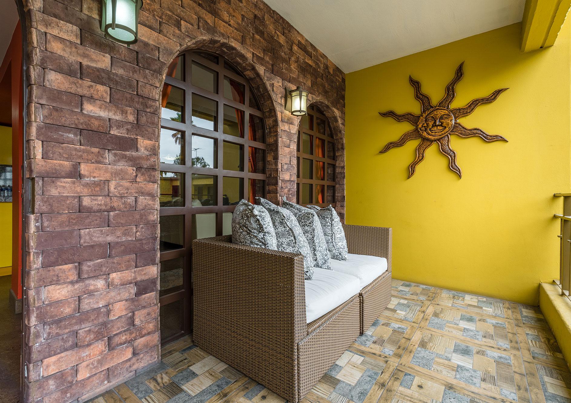 sala de estar hotel hacienda del rio